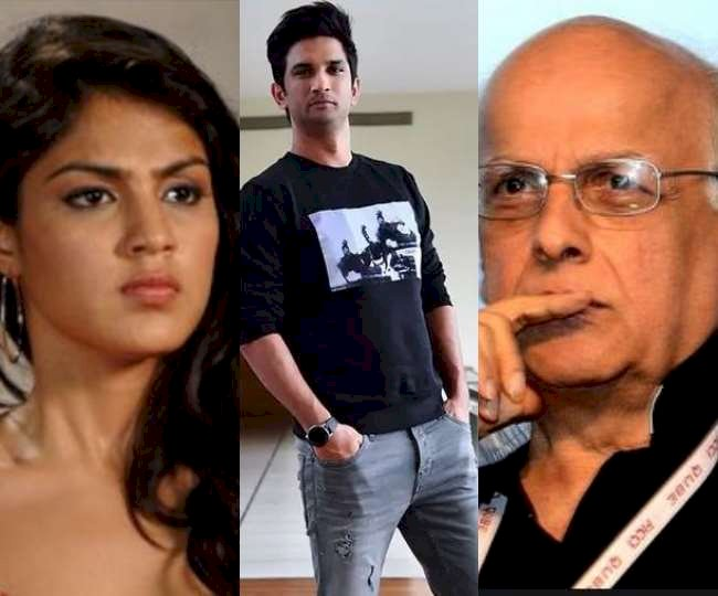 These pictures of Mahesh Bhatt and Riya Chakraborty are going viral after Sushant Singh Rajput's death