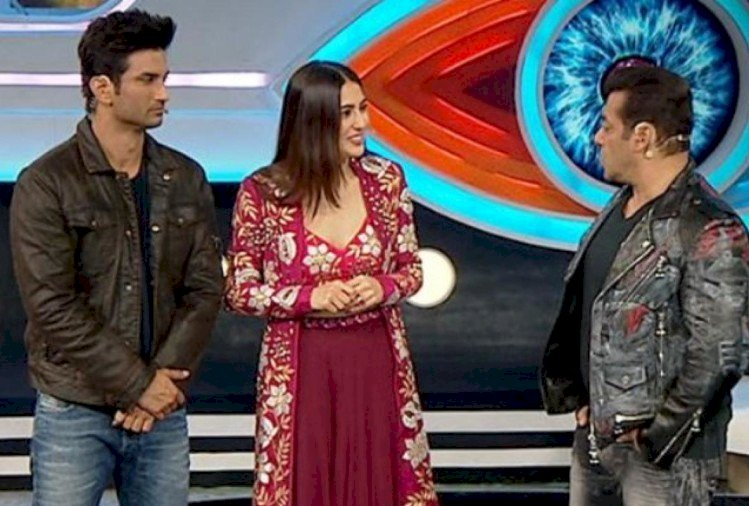 When Sushant reached the set of 'Bigg Boss' with Sara, see how Salman's reaction was in the video