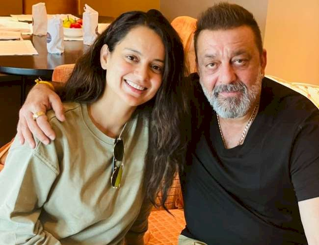 Kangana Ranaut meets Sanjay Dutt in Hyderabad, Surprise actress speaks- More handsome and healthier than before